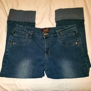 Angels Cuffed Capris Jeans Size 12